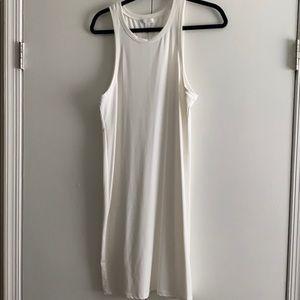 White Body Con Stretchy Fabric Dress